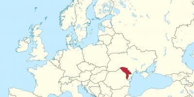 Moldova Hartă Hărți Moldova Europa De Est Europa